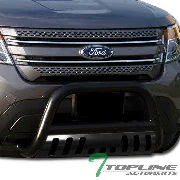 Topline Autopart Black HD Steel Bull Bar Brush Push Bumper Grill Grille Guard 11-16 Ford Explorer (2014 Ford Explorer Grille compare prices)