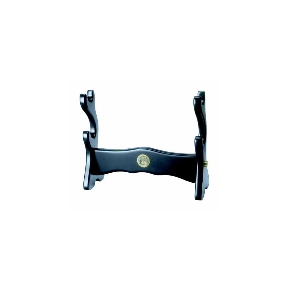 Black Two Sword Table Top Display Stand