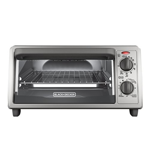 BLACK+DECKER TO1322SBD 4-Slice Toaster Oven, Includes Bake Pan, Broil Rack & Toasting Rack, Stainless Steel/Black Toaster Oven (Compact Toaster Oven Broiler compare prices)