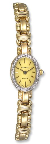 Geneve Mini 14k Solid Gold Diamond Womens Watch W080832