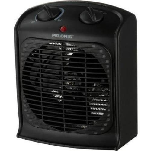 Pelonis Fan-forced Black Portable Space Heater with Thermostat-new, Three Heat Settings (Low, Medium and High),safety Auto Shut-off (Efficient Portable Heaters compare prices)