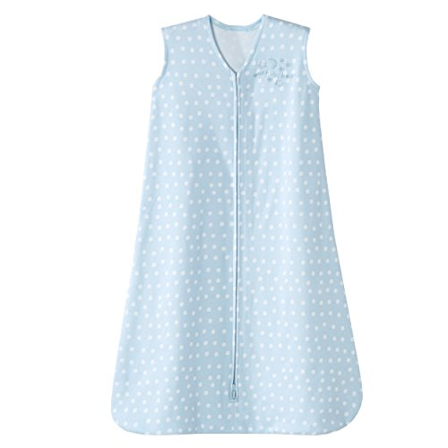 HALO SleepSack Wearable Blanket, Blue with White Dots, Small - 1