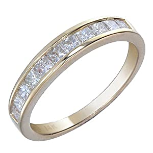 Vir Jewels IGI Certified 14K Yellow Gold Diamond Wedding Band 1/2 CT Princess