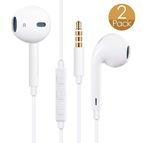 Earbuds with volume control and pause - apple headphones volume control - Coupon For Amazon