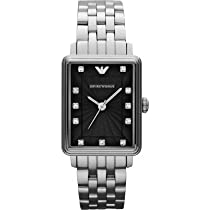 Emporio Armani Classic Black Dial Stainless Steel Mens Watch AR1665