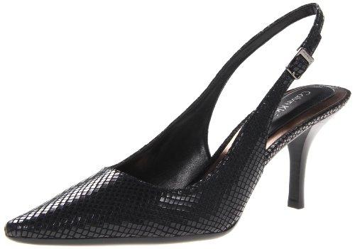 Calvin Klein Women'S Day Classic Python Dress Pump,Black,7.5 M Us front-1065179