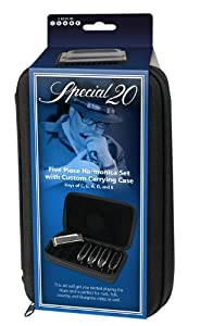 Hohner SPC Case of Five Special 20 Harmonicas in Zippered Carrying Case