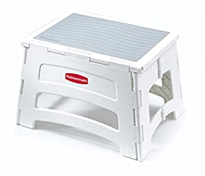 Amazon Com Rubbermaid Rm Pl1w Folding 1 Step Plastic