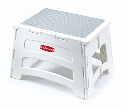 Rubbermaid Folding Plastic Foldable Step Stool Standing