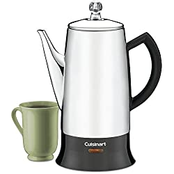 Cuisinart PRC-12 Classic 12-Cup Stainless-Steel Percolator, Black/Stainless (Certified Refurbished) by Cuisinart