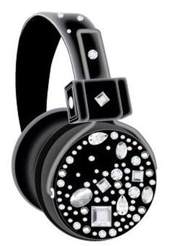 Sakar Vindblst-Mic-Wm Bling Black Stone Headphones With Mic