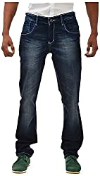 Casinova Men's Slim Fit Jeans (CJ_303-38, Dark Blue, 38)
