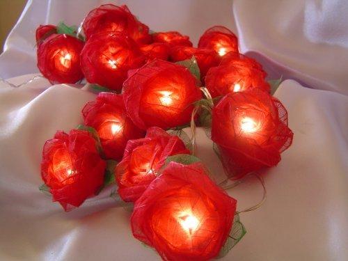 Red Rose Battery Powered Led Fairy Light String