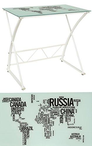 Design-Schreibtisch-WORLD-Wei-mit-weiem-Gestell-6-mm-Glasplatte-mit-Weltkarte-ESG-Glastisch