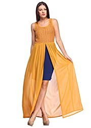 Yellow Sheer And Lace Maxi