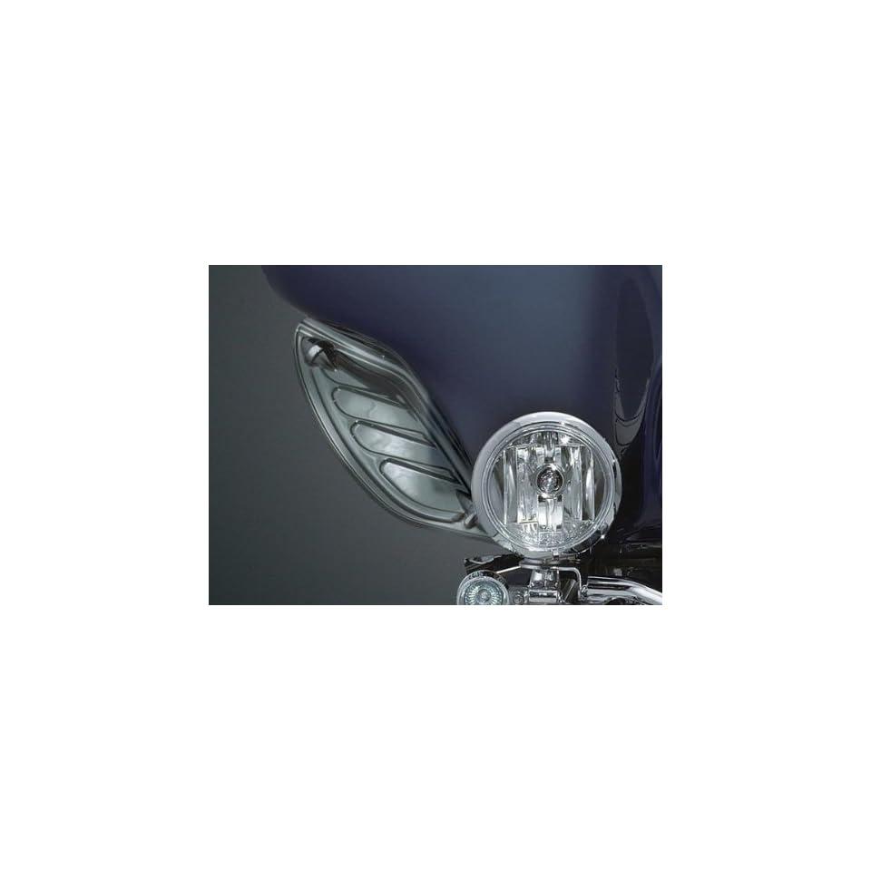 Kuryakyn 1108 Dark Smoke Dragon Wing Variable Air Deflectors For Harley Davidson Touring