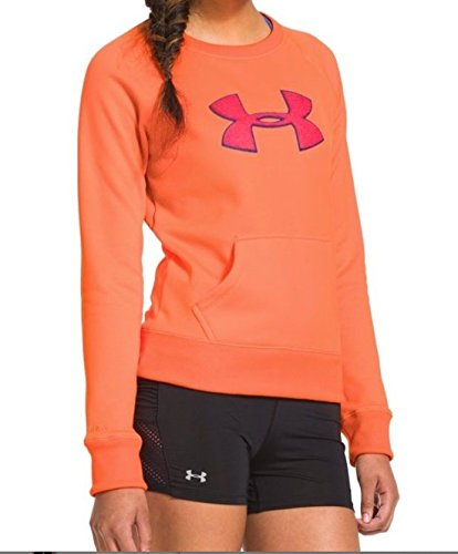 Under Armour Womens UA Big Logo Lettermen Crew Sweatshirt Size M Medium