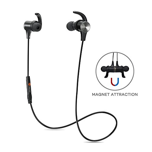 Bluetooth Headphones, TaoTronics Wireless 4.1 Magnetic Earbuds Stereo