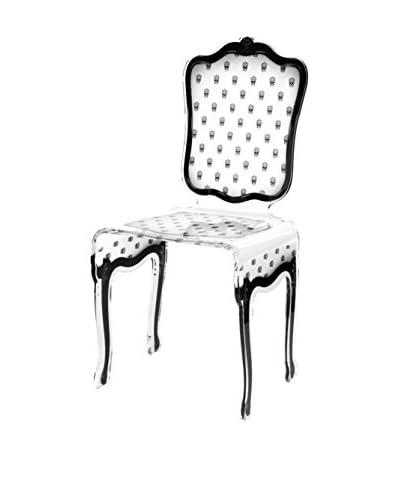 ACRILA Charleston Skull Chair, White