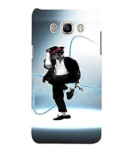 PrintVisa Dance Michael Jackson 3D Hard Polycarbonate Designer Back Case Cover for Samsung Galaxy On8