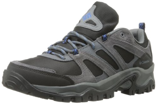 Columbia Men's Woodburn Hiking Shoe,Black/Atmosphere,8.5