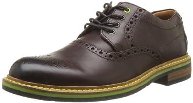 Clarks Darby Style 203584907, Herren Schnürhalbschuhe, Braun (Brown Leather), EU 42.5