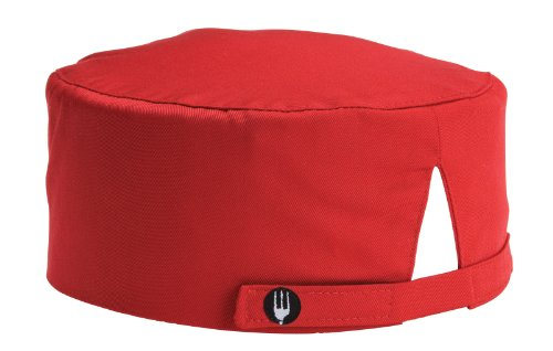 Chef Works Red Basic Skull Cap