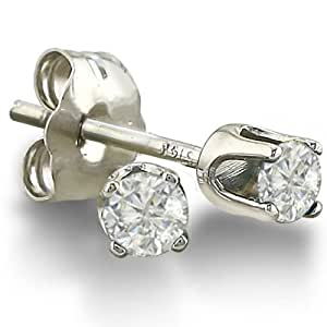 1/5ct Round Diamond Stud Earrings in 10K White Gold