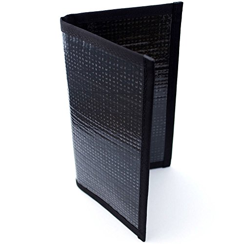 flowfold-altruist-long-wallet-black-pearl-slim-light-kevlar-checkbook-cover
