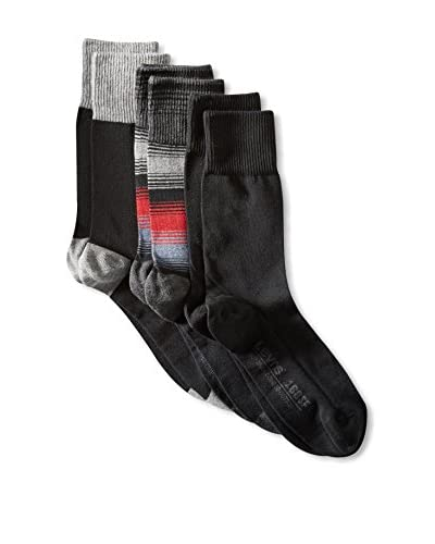Levi's Men's 3 Pack Socks, Black Pack, One Size