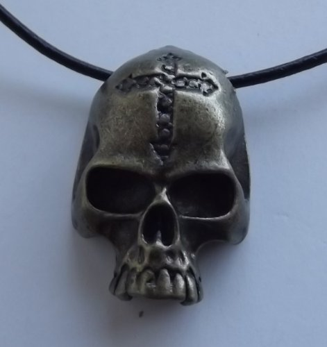 UNISEX PENDANT NECKLACE VINTAGE BRONZE PLATED SKULL HARLEY BIKER MOTORCYCLE JEWELRY GIFT