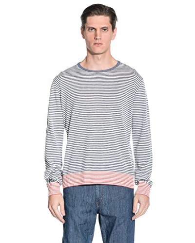 Carrera Jeans Pullover Round Neck [Blu/Rosso/Bianco]