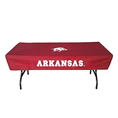 Rivalry Sports Team Logo Design Outdoor Travel Tailgating Arkansas 6 Foot Table Cover