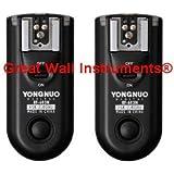 Yongnuo Upgrade RF-603 II C3 2.4GHz Wireless Flash Trigger/Wireless Shutter Release Transceiver Kit for Canon 1D/1DS, EOS 5D Mark II/5D/7D/50D/40D/30D/20D/10D Series (RF603II C3)