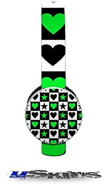 buy Hearts And Stars Green Decal Style Skin (Fits Sol Republic Tracks Headphones - Headphones Not Included)