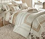 Francesca Duvet Cover Set, Natural, Super King Picture