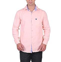 Cotblend Men's Casual Shirt (CB-OXFD-Bawa-L, Pink, L)