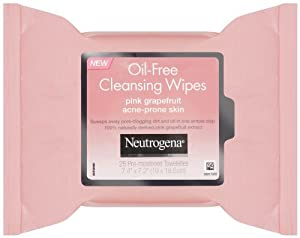 Neutrogena Pink Grapefruit Oil-Free Cleansing Wipes (Quantity of 4)