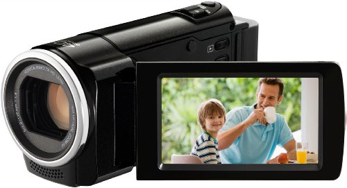 JVC GZ-HM30BEU HD Camcorder (SD-Kartenslot, 70-fach digital Zoom, 6,9 cm (2,7 Zoll) Display, HDMI-Kabelanschluss)