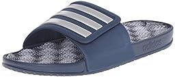 adidas Performance Men\'s Adissage 2.0 M Stripes Sandals,Blue/Metallic Silver/Blue,12 M US