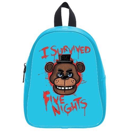 LilyFavor Survived Five Nights At Freddy'S Custom Zaino Shoulder Borsa School Borsa (L)
