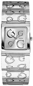 Guess - W10102L3 - Montre Femme - Quartz Analogique - Cadran Argent - Bracelet Plastique Transparent