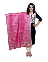 Indiweaves Fashion Women Pink Viscose Shawl