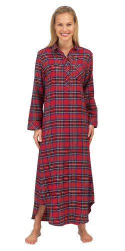 Stewart Plaid Flannel Nightshirt