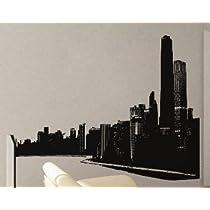 Modern City Scape - Vinyl Wall Decals Murals Stickers Art Graphic - 46