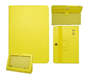 Ushoppingcart Universal Flip Folio Faux Leather Carrying Case Cover with Stand For 7 Inch Android Tablet(Q88) touch screen tablet (Yellow) from Ushoppingcart