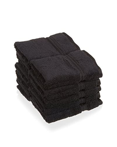 Superior 10-Piece 600 GSM Egyptian Cotton Face Towel Set, Black