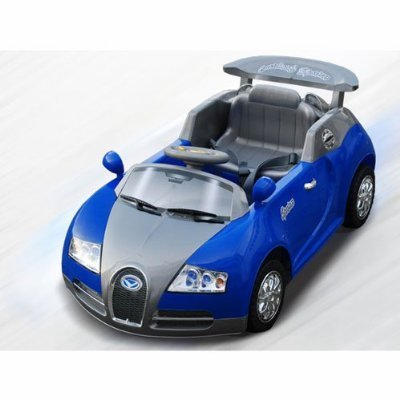 Battery Power Bugatti Kids Ride On Car R C Wheels Colors Blue Yellow Or Red Sent At Random For
