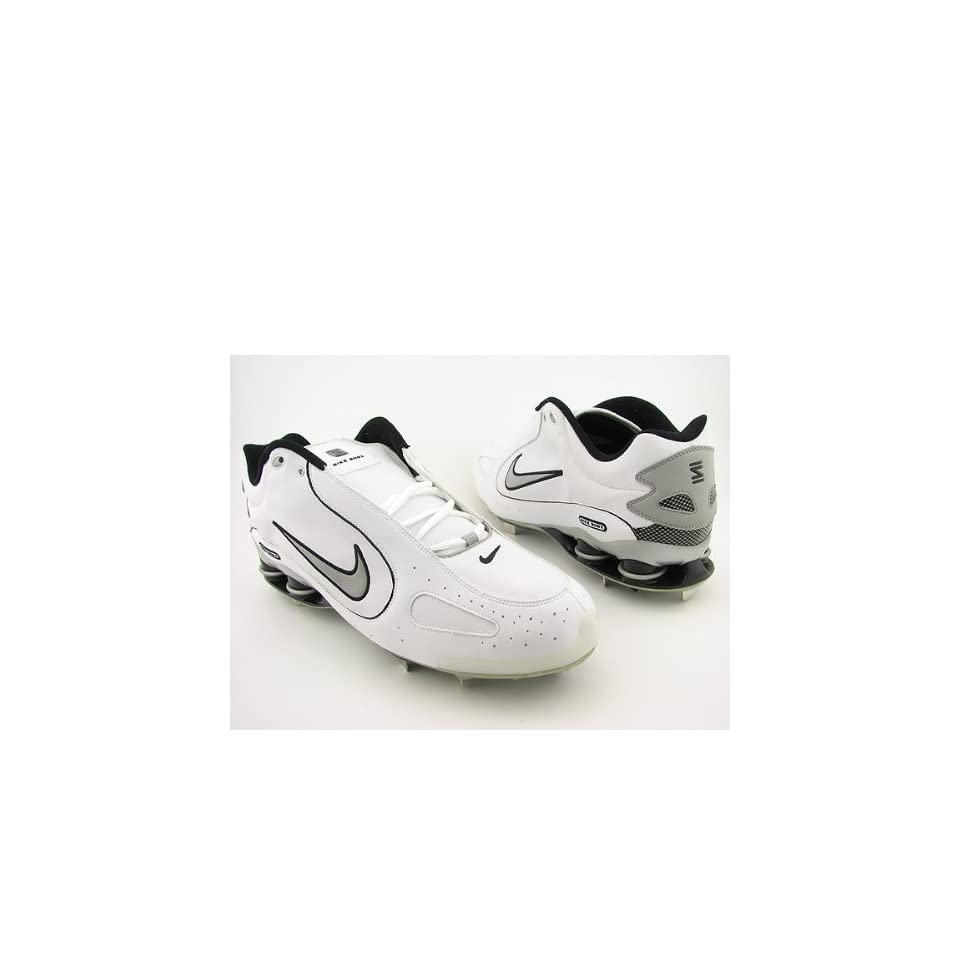 best service 50a85 59b06 Nike Shox Monster Metal Baseball Cleats 311815, White Gray, 16 NIKE Sports    Outdoors