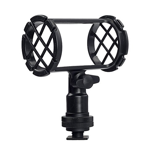 BOYA BY-C04 Camera Microphone Shockmount with Hot Shoe Mount for AKG D230 Senheisser ME66 Rode NTG-2 NTG-1 Audio-Technica AT-875R (Mic Hot Shoe Mount compare prices)